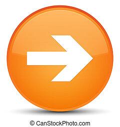 Next arrow icon special orange round button