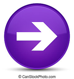 Next arrow icon special purple round button
