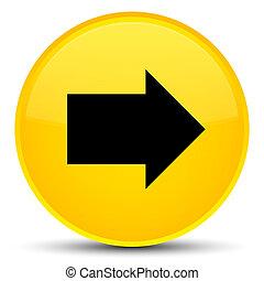 Next arrow icon special yellow round button