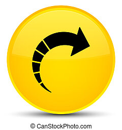 Next arrow icon special yellow round button