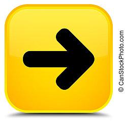 Next arrow icon special yellow square button