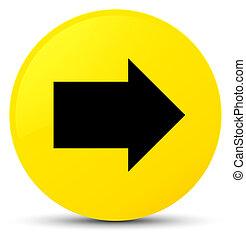 Next arrow icon yellow round button