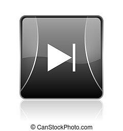 next black square web glossy icon