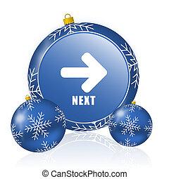 Next blue christmas balls icon