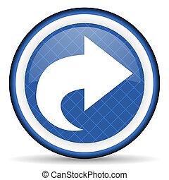 next blue icon arrow sign