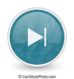 Next brillant crystal design round blue web icon.
