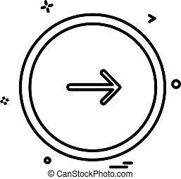 Next button icon design vector