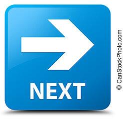Next cyan blue square button