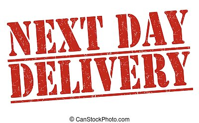Next day delivery stamp - Next day delivery grunge rubber...