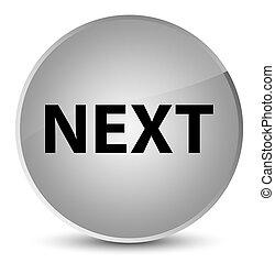 Next elegant white round button