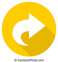 next flat design yellow web icon
