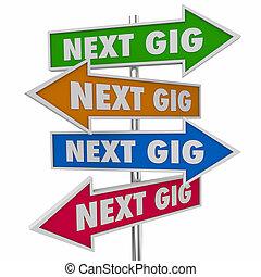Next Gig Job Task Working Employment Signs 3d Illustration