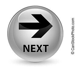 Next glassy white round button