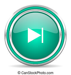 next green glossy web icon - green glossy web icon