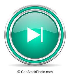 next green glossy web icon - green glossy web icon