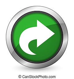 next green icon arrow sign