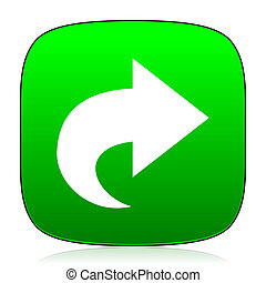next green icon for web and mobile app