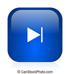next icon - blue glossy computer icon