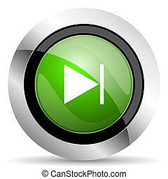 next icon, green button