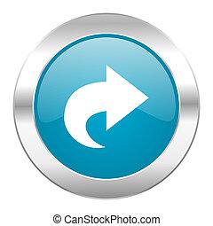 next internet blue icon