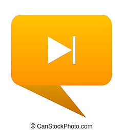 next orange bulb web icon isolated.