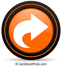 next orange icon arrow sign