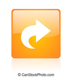 next orange square glossy web icon