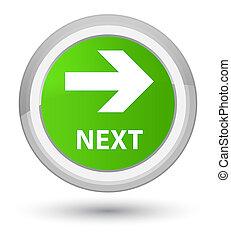 Next prime soft green round button