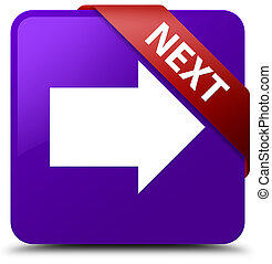 Next purple square button red ribbon in corner