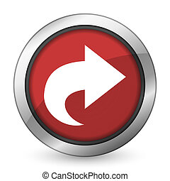 next red icon arrow sign