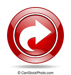 next red web glossy round icon