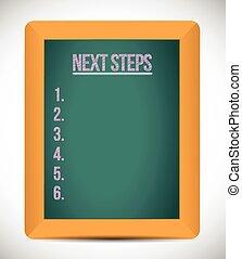next steps list illustration design