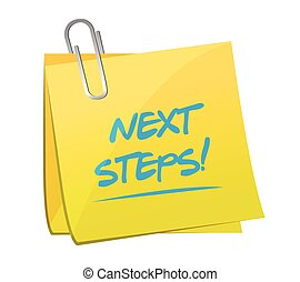 next steps post illustration design