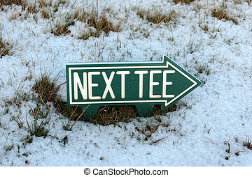 next tee sign in snow