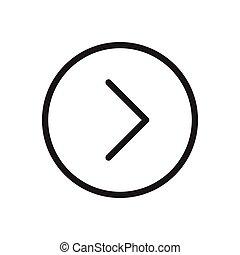 next  thin line icon