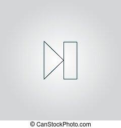 Next track web icon. Media player.