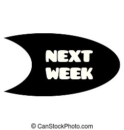 next week stamp on white