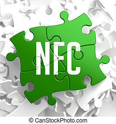 nfc, επάνω , πράσινο , puzzle.