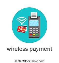 nfc, 無線, クレジット, 銀行, 支払い, カード
