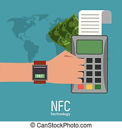 nfc, ikony technologii