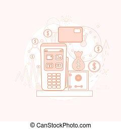 nfc, kredyt, terminal, bankowość, checkout, karta