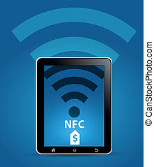 NFC Near Field Communication Concep