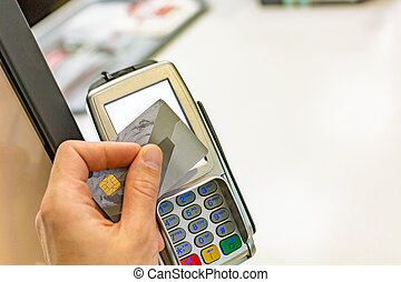 NFC - Near field communication, credit card payment