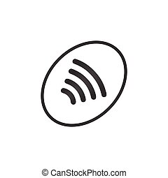 NFC Payment. Pos terminal confirms contactless payment from...
