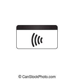 NFC Payment. Pos terminal confirms contactless payment from...