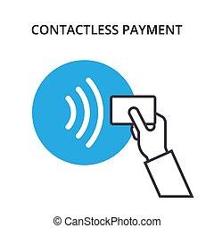 NFC Payment vector outline Icon. Pos terminal confirms...