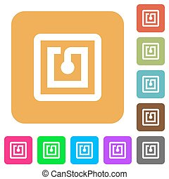 NFC sticker rounded square flat icons