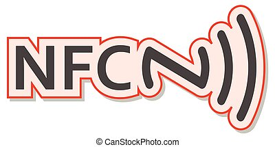 NFC Tag sticker, sign of Near field communication, vector information sticker, the acceptance of NFC payments