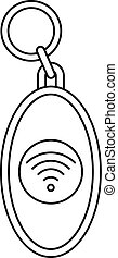 Nfc trinket icon, outline style - Nfc trinket icon. Outline...
