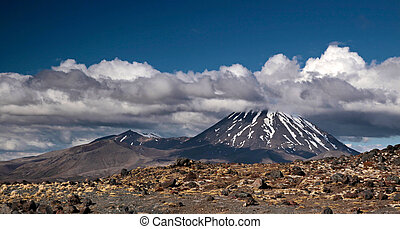 ngauruhoe, monte, parco, nazionale, tongariro